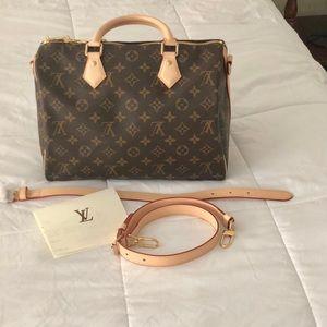 Speedy 30 Bandouliere Monogram Louis Vuitton